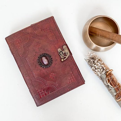 Amethyst Leather Journal