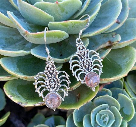 Sunstone Silver Earrings 1