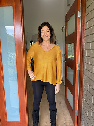 Isla Knit Jumper - Mustard