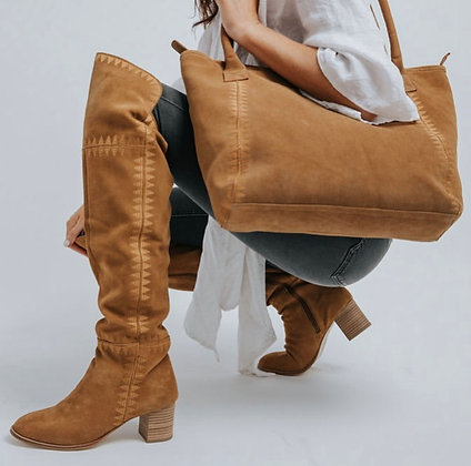 Marlee Suede Tan Boots
