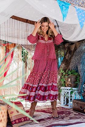 Ruby Jewel Gypsy Skirt - Scarlet Sage