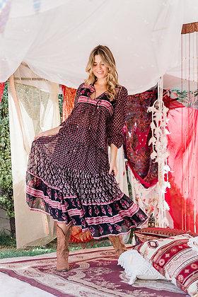 Ruby Jewel Gypsy Skirt - Moonless Night