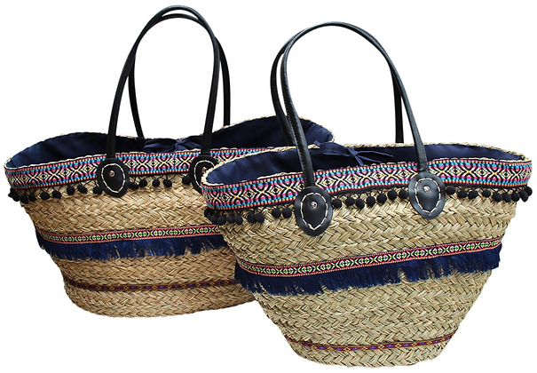 Navy Boho Market Bag