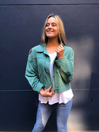 Military Crop Jacket - Green