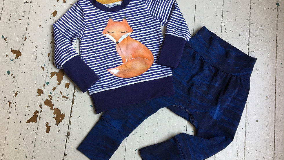 Fox in stripes - organic 3-12mo