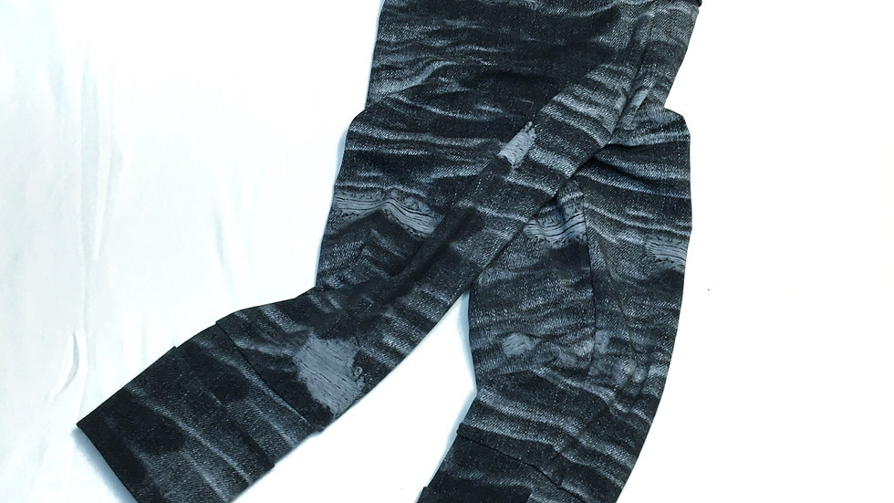 Organic Faux Ripped Denim - Grow-With-Me Pants