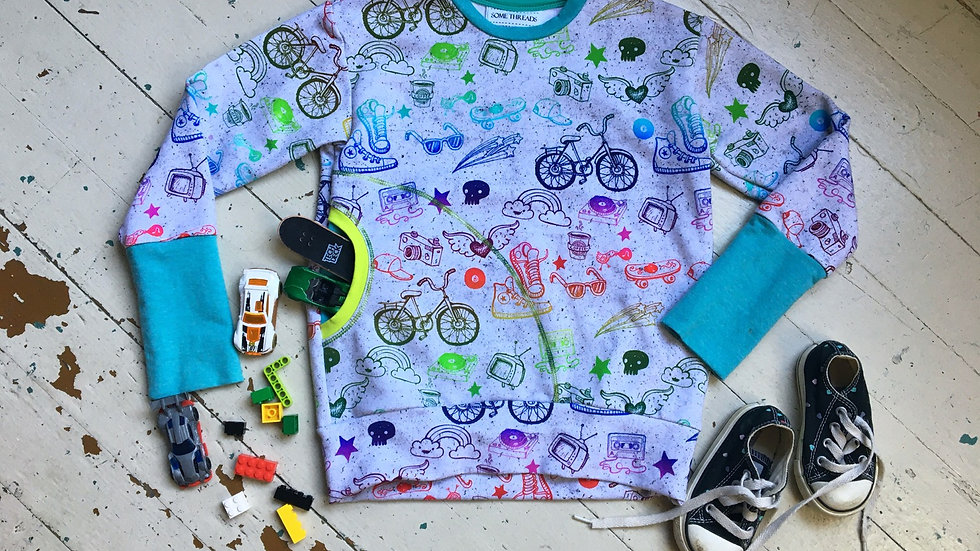 Bike Dreams - Grow-With-Me Sweatshirt