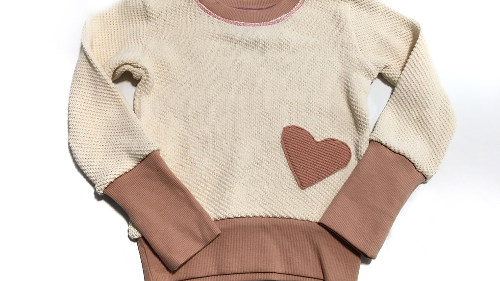 Organic cotton sweater - grow sized 3-6 years