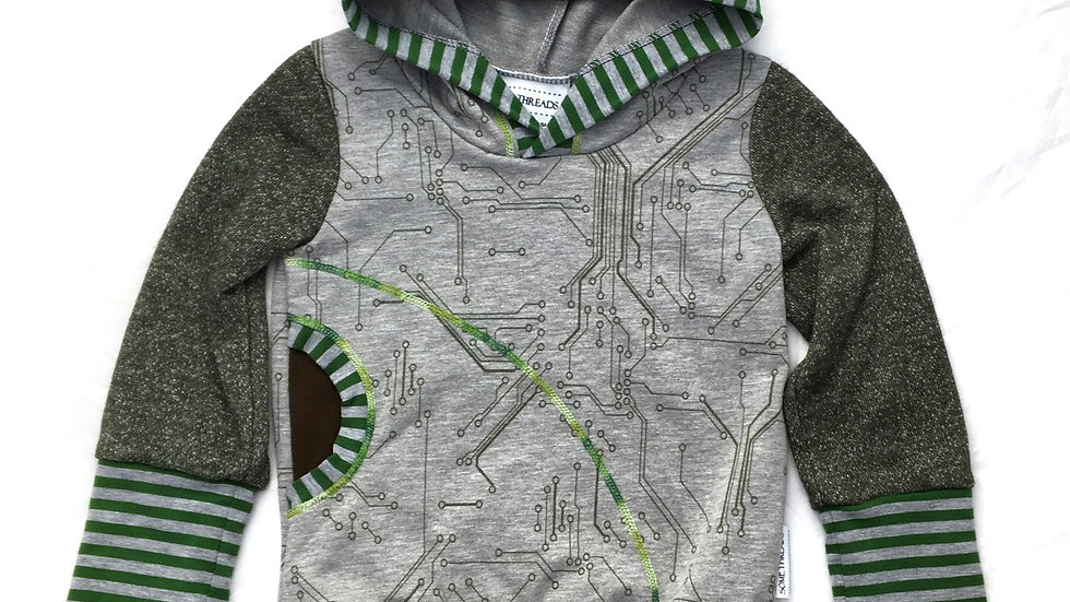 Circuit boards hoodie - Grow-With-Me 12 mo-3 years