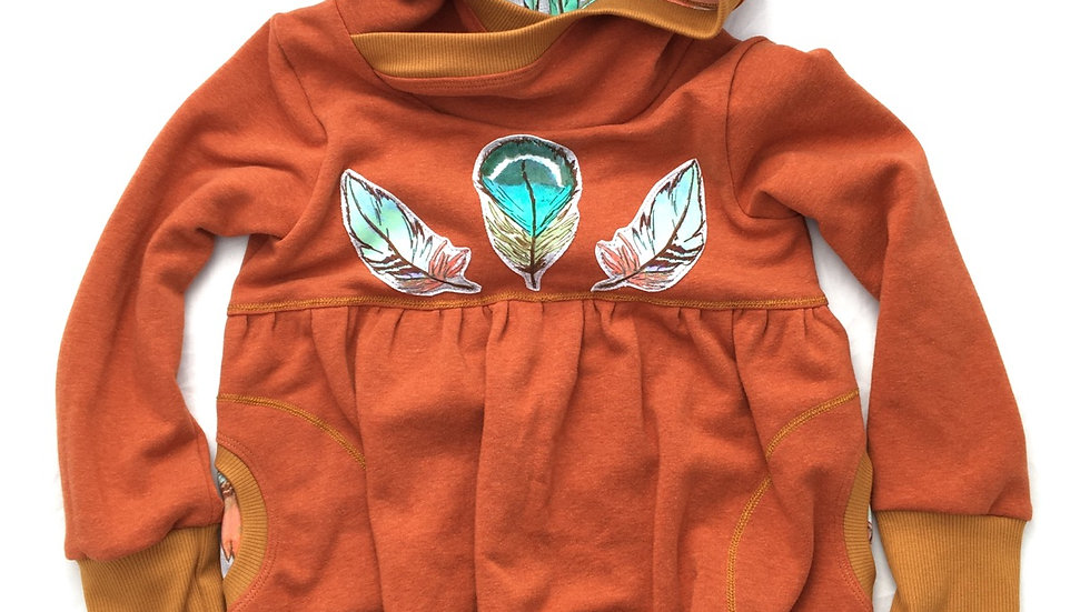Organic feathers Pixie Tunic - Grow-With-Me 3-6 years