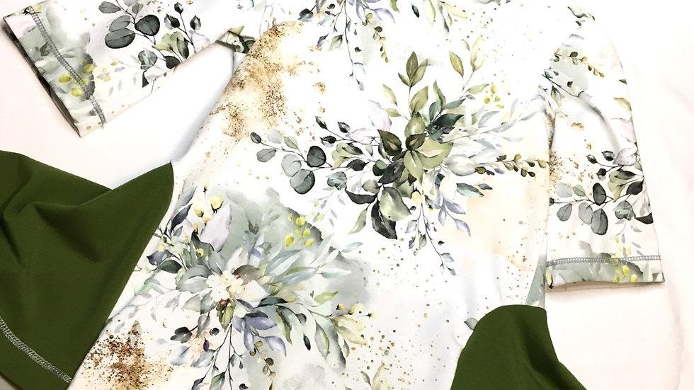 Ada Twirly Tunic - Leafy floral size 7/8