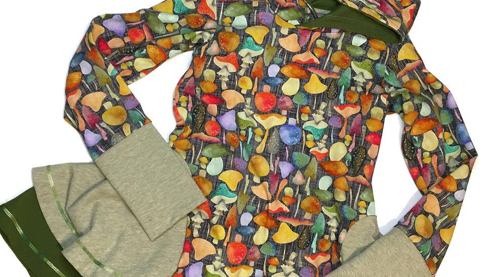 Organic Ada Twirly Tunic - mushroom print