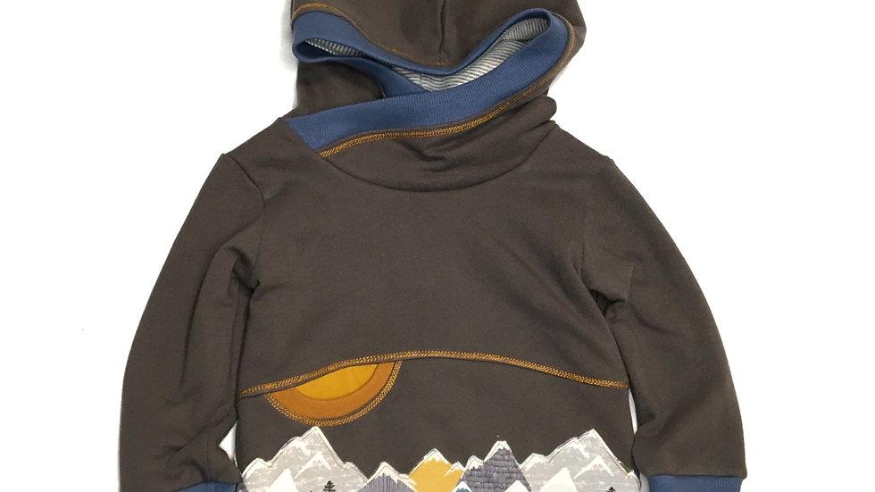 Organic mountain pocket hoodie  - Grow-With-Me1-3 years