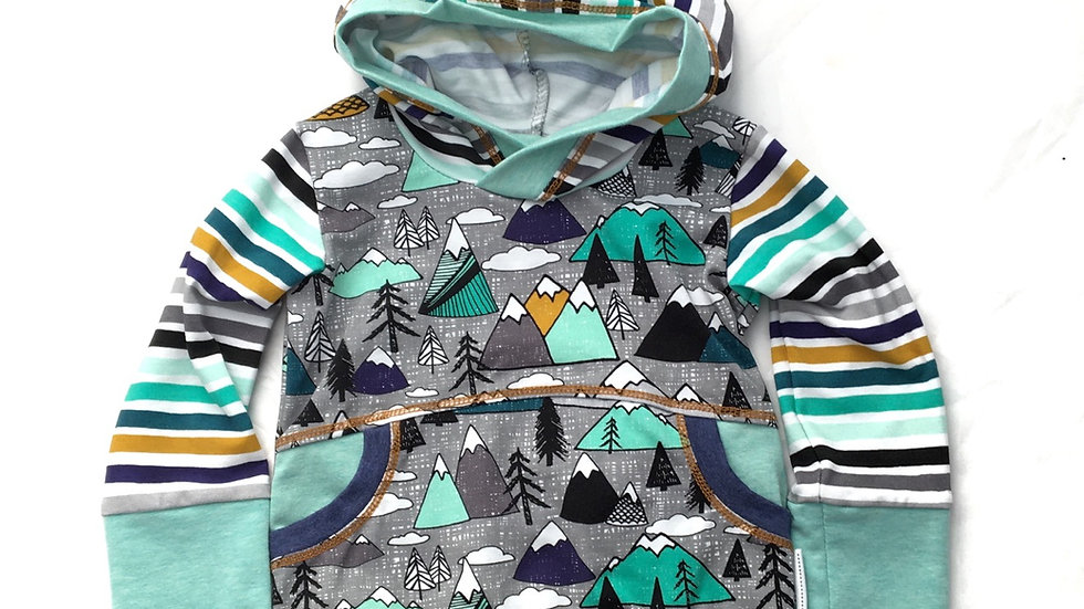 Organic Mountain Pixie Hoodie  - Grow-With-Me