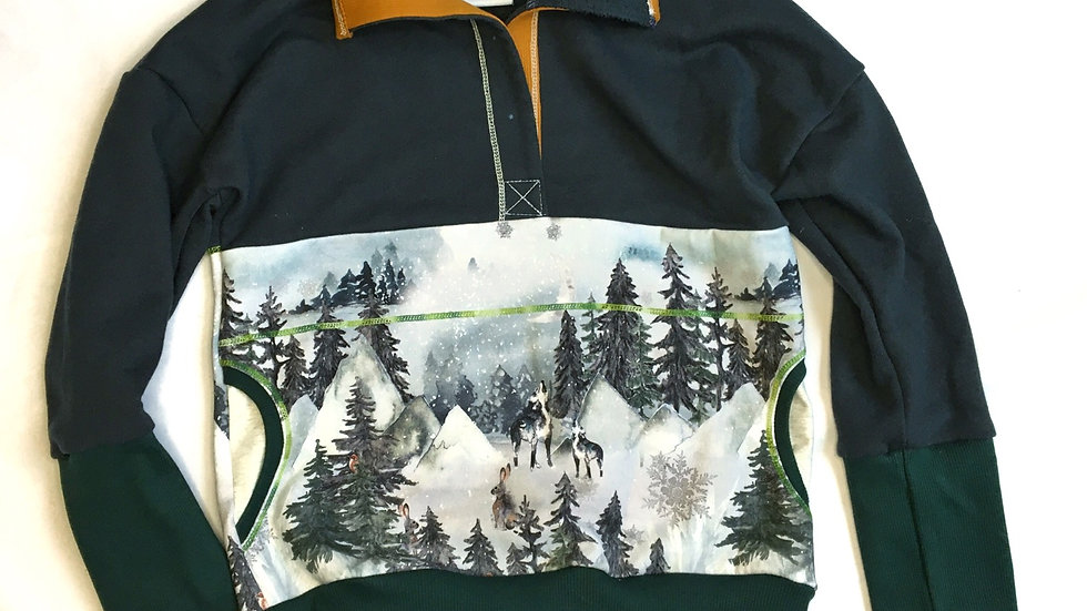 Woodland Pullover - Grow-With-Me 6-9 years
