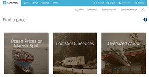 Maersk online product and service