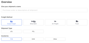 Flexport shipment overview