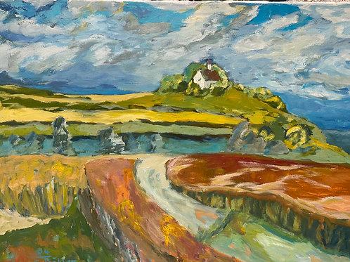 Landschaftsimpression VIII von Franz Böhler I 60x80cm