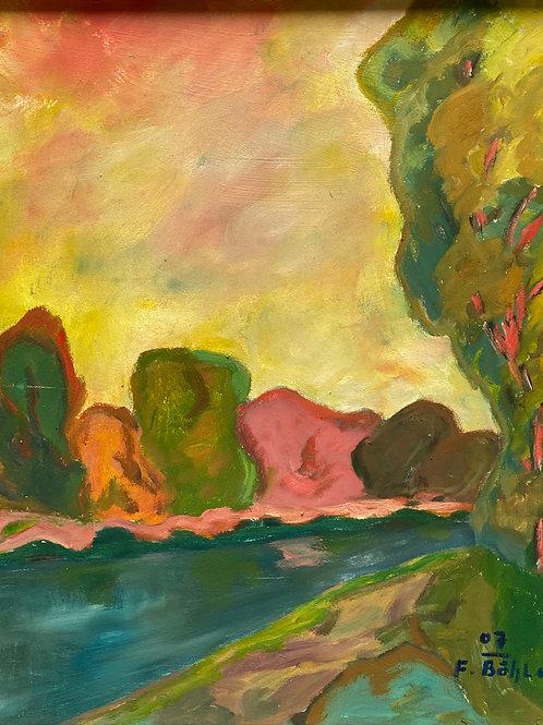 Landschaftsimpression III von Franz Böhler I 50x60cm Hochformat