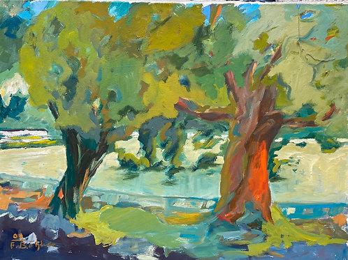 Landschaftsimpression XIII von Franz Böhler I 60x80cm