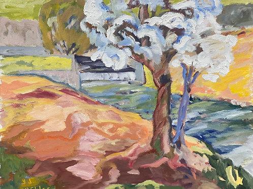 Landschaftsimpression I von Franz Böhler I 50x60cm Querformat