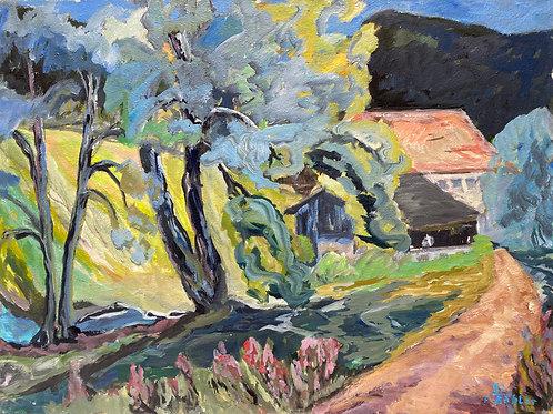 Landschaftsimpression II von Franz Böhler I 60x80cm Querformat