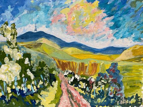 Landschaftsimpression V von Franz Böhler I 60x80cm Querformat