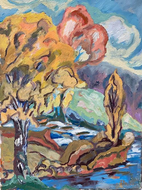 Landschaftsimpression VII von Franz Böhler I 60x80cm Hochformat