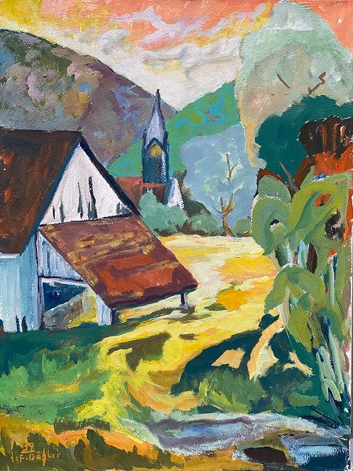 Landschaftsimpression IX von Franz Böhler I 60x80cm Hochformat