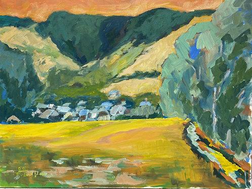 Landschaftsimpression III von Franz Böhler I 60x80cm Querformat
