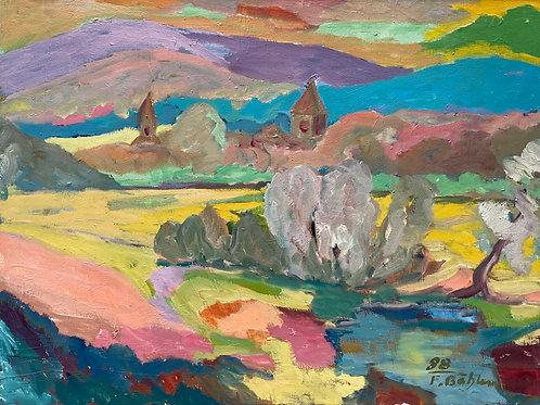 Landschaftsimpression VI von Franz Böhler I 60x80cm