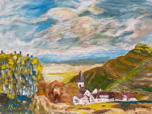 Landschaftsimpression IV von Franz Böhler I 60x80cm Querformat