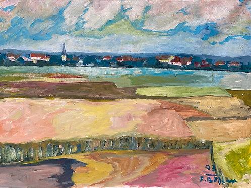 Landschaftsimpression XI von Franz Böhler I 60x80c