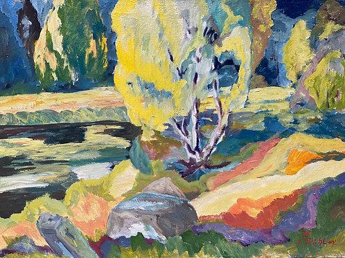 Landschaftsimpression VII von Franz Böhler I 60x80cm
