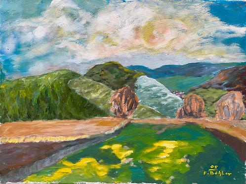 Landschaftsimpression XIV von Franz Böhler I 60x80cm