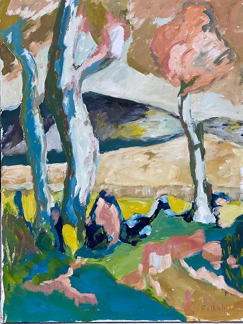 Landschaftsimpression V von Franz Böhler I 60x80cm Hochformat