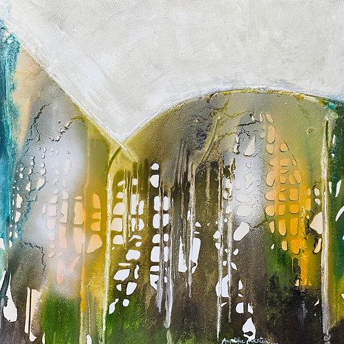 Einsicht Garten Eden von Angelique Eckstein I 80x80 cm