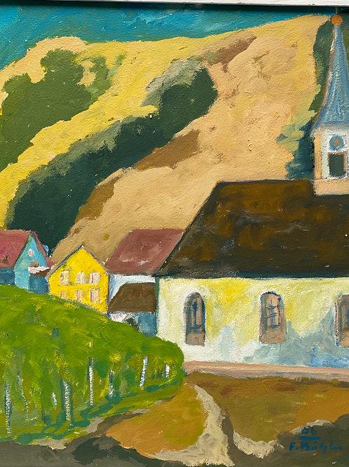 Landschaftsimpression II von Franz Böhler I 50x60cm Hochformat