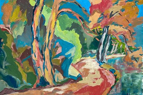 Landschaftsimpression IX von Franz Böhler I 60x80cm
