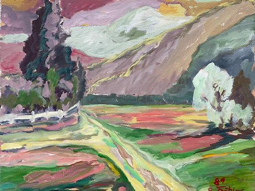 Landschaftsimpression III von Franz Böhler I 50x60cm