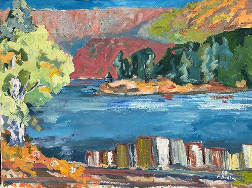 Landschaftsimpression V von Franz Böhler I 60x80cm