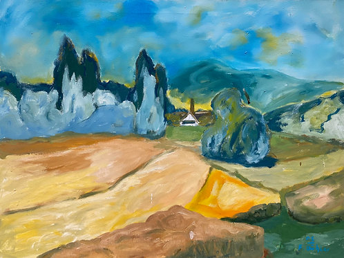 Landschaftsimpression I von Franz Böhler I 60x80cm