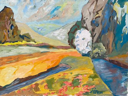 Landschaftsimpression X von Franz Böhler I 60x80cm