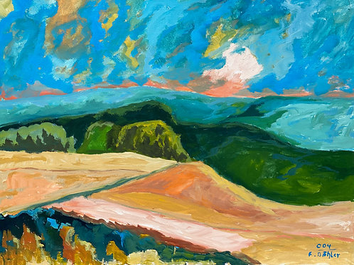Landschaftsimpression XII von Franz Böhler I 60x80cm