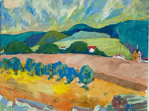Landschaftsimpression III von Franz Böhler I 50x60cm Querformat