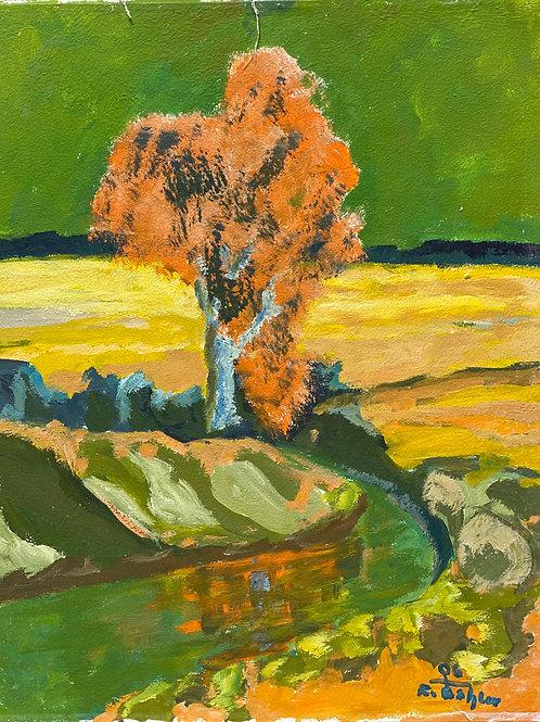 Landschaftsimpression VI von Franz Böhler I 50x60cm Hochformat