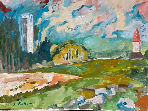 Landschaftsimpression XIII von Franz Böhler I 60x80c