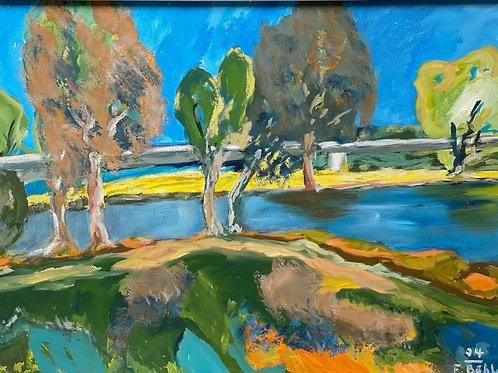 Landschaftsimpression IV von Franz Böhler I 60x80cm