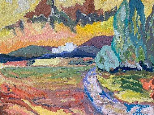 Landschaftsimpression II von Franz Böhler I 50x60cm Querformat