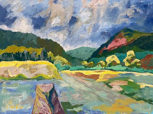 Landschaftsimpression XV von Franz Böhler I 60x80cm